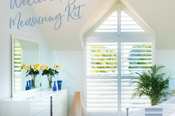 Home Measuring Kits are available from Just Shutters Dorset
