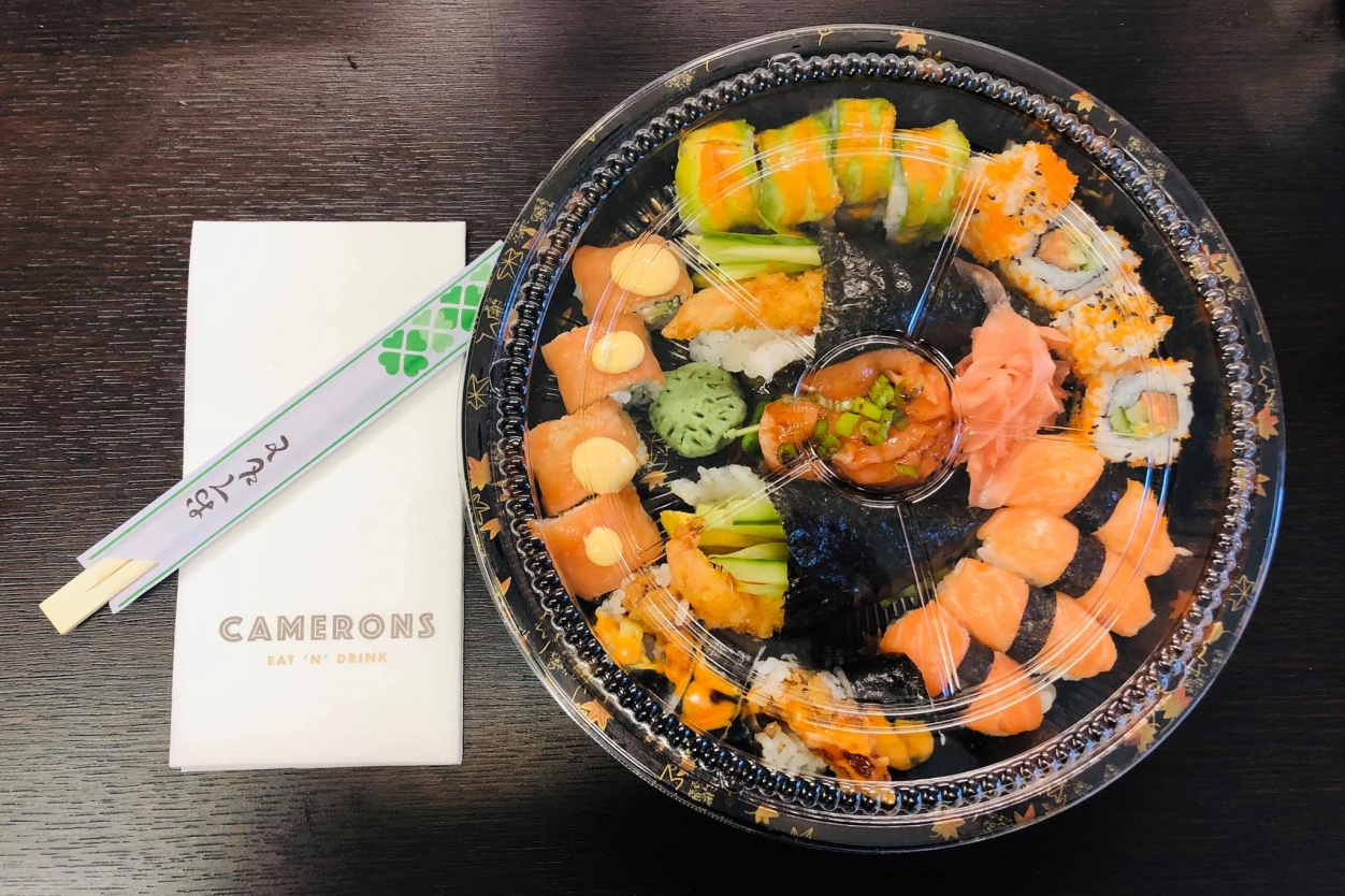 Delicious sushi platters delivered to your door from Camerons