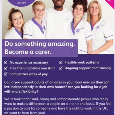 Do Something Amazing.....become a Carer