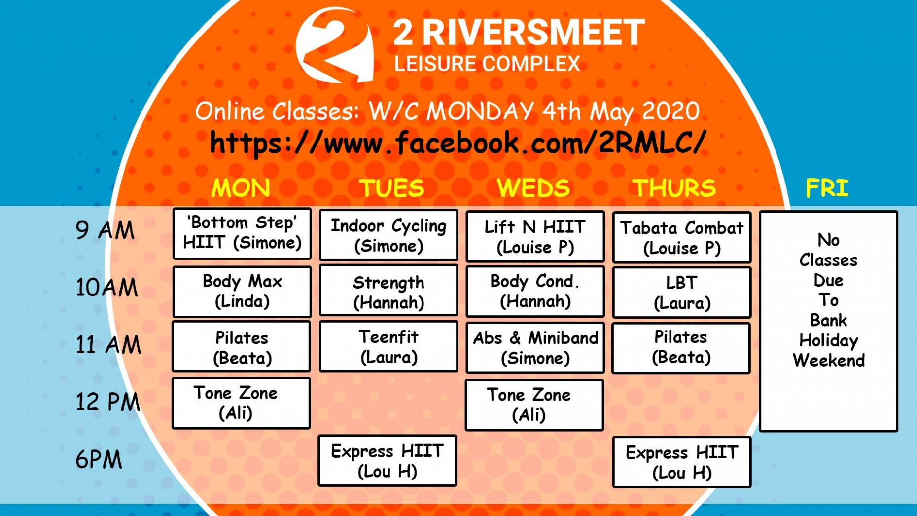 Keeping Fit Under Lockdown: Free Online Classes from Two Riversmeet Leisure Centre