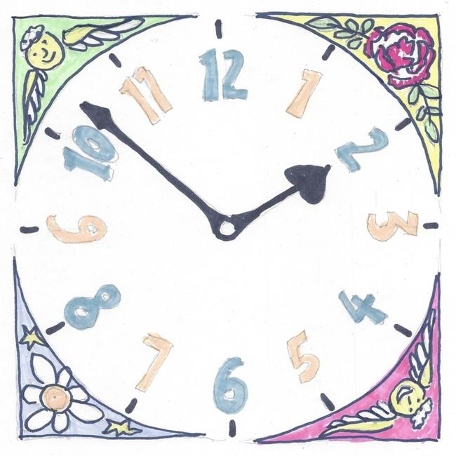 drawing of clock face