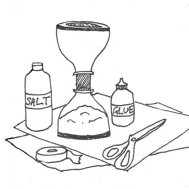 drawing of hourglass