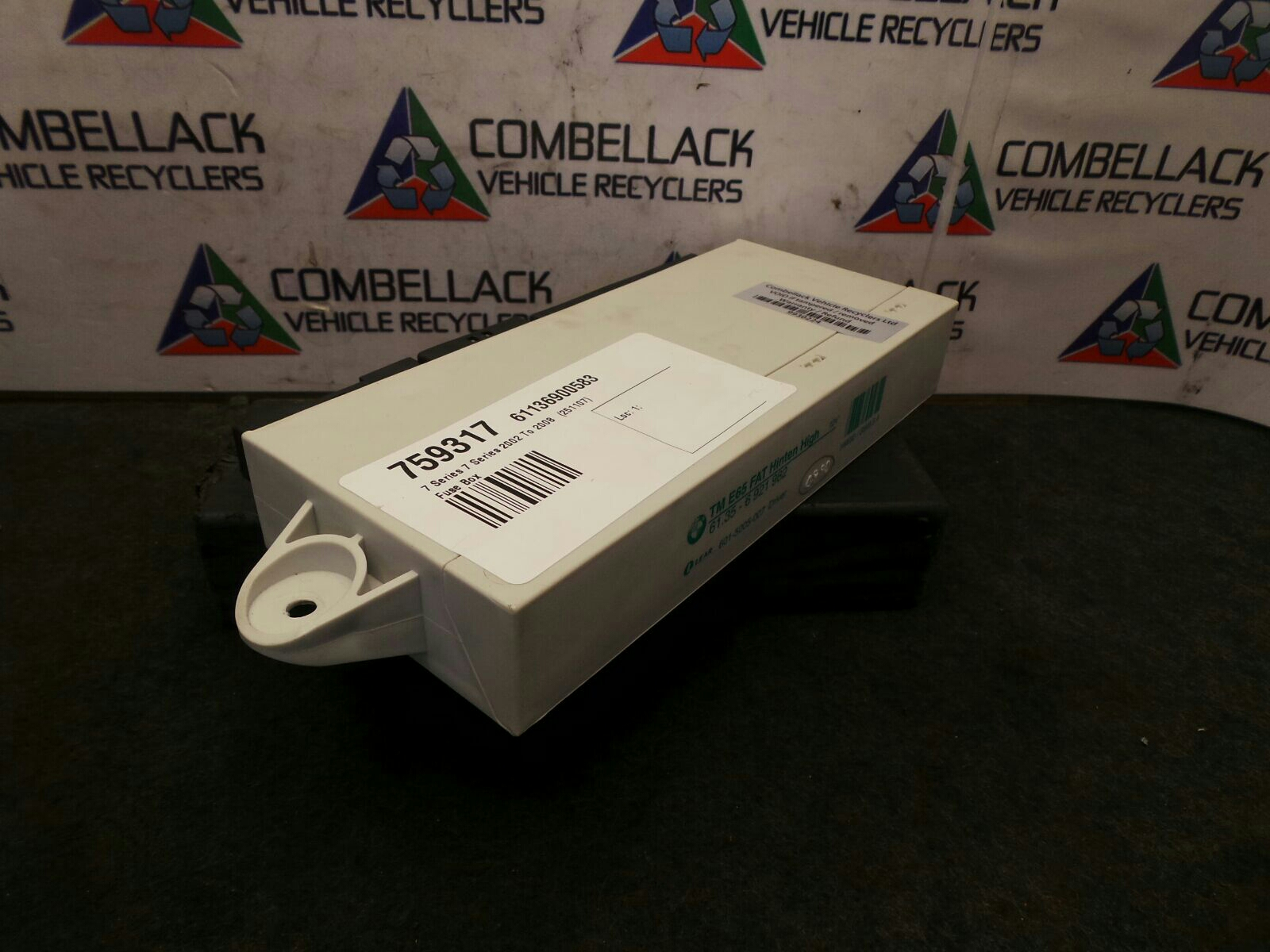 Bmw 7 Series 2002 To 2008 745i Fuse Box Used And Spare Parts At Combellack Vehicle Recyclers