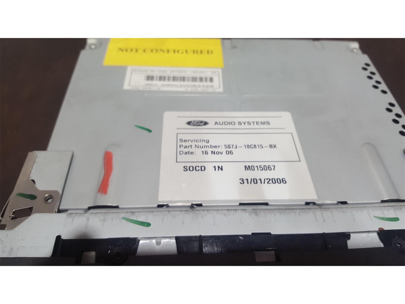 Ford Focus 2005 To 2007 Titanium Radio Cd Player Used And Spare Parts At Combellack Vehicle Recyclers