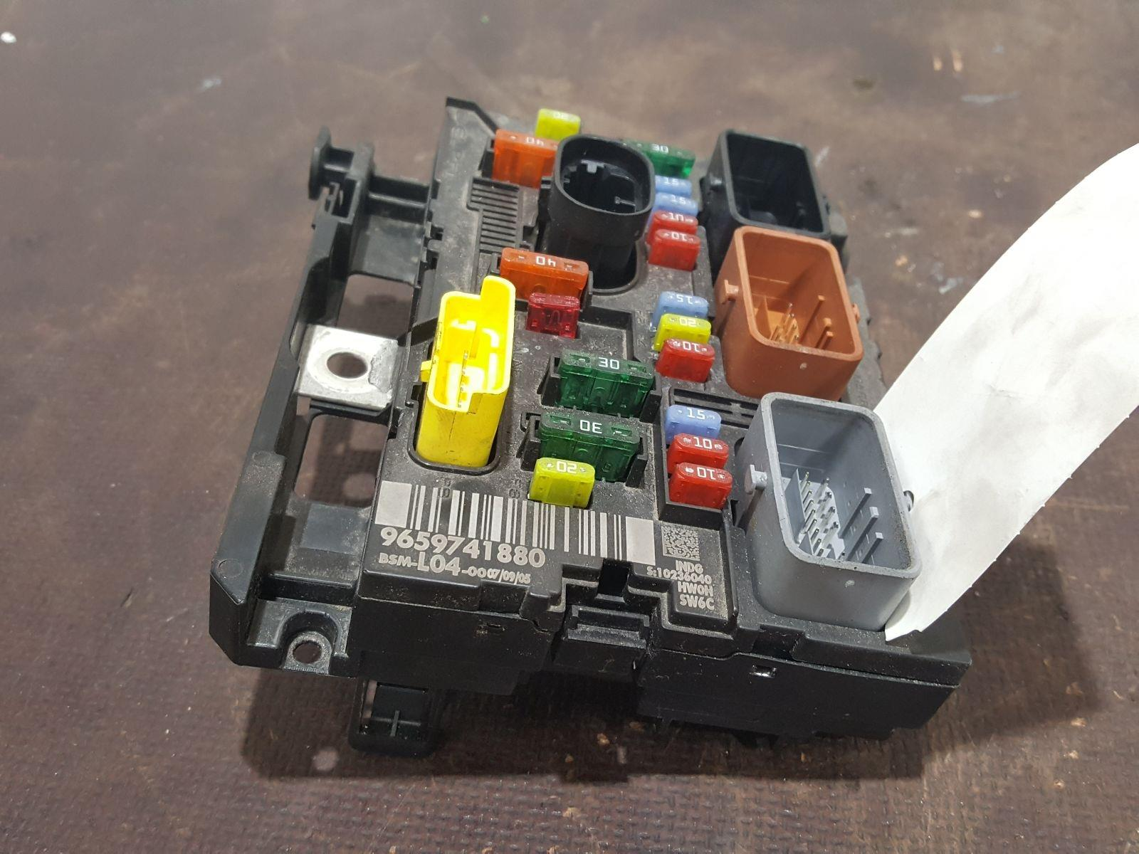 Peugeot 307 2005 To 2008 Cc S Fuse And Relay Box 1 Used Spare For Sale Bsi Bmi Bcm Body Control Unit 9659741880