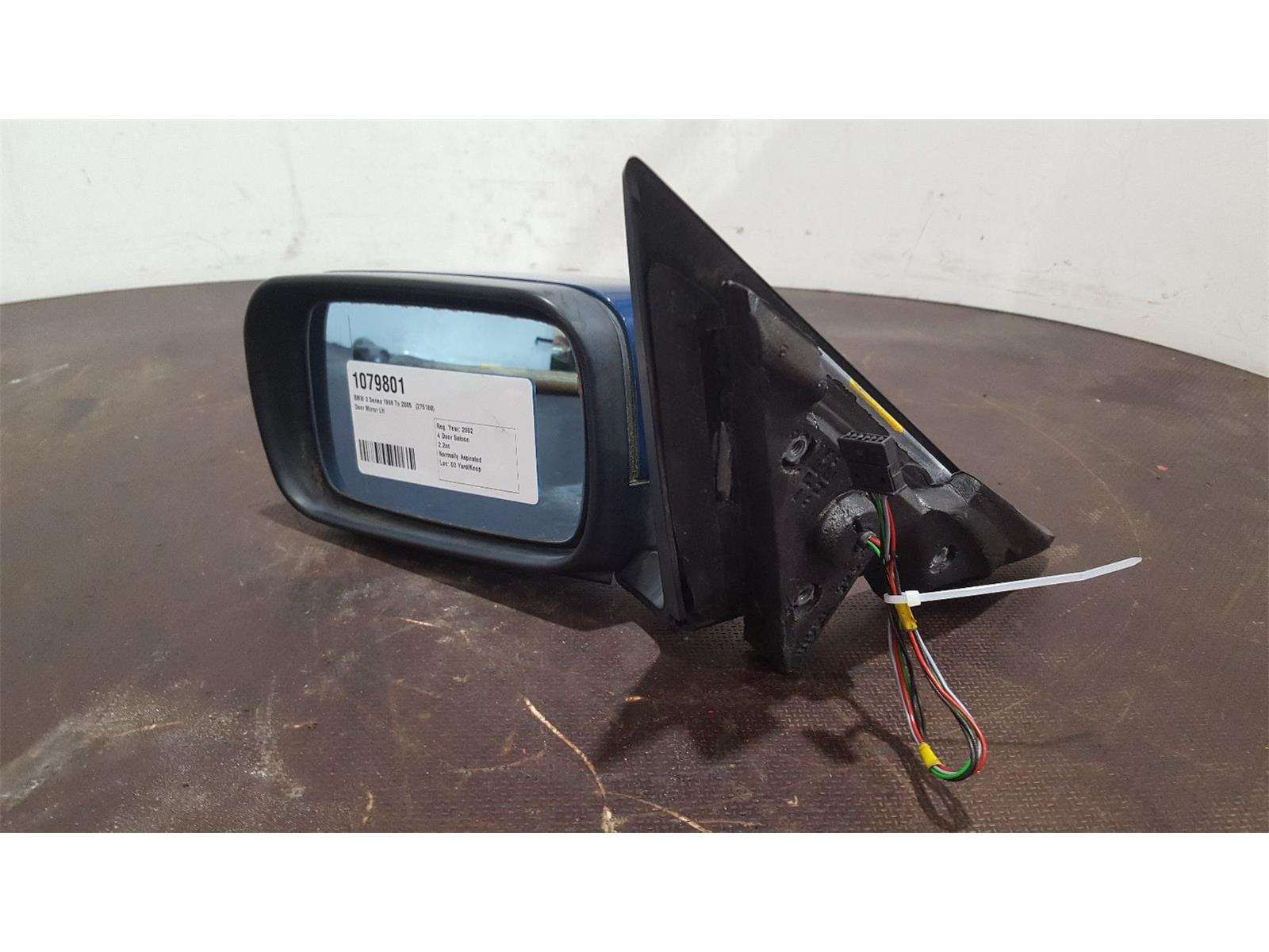 BMW 3 Series E46 1998 To 2005 Blue N/S Left Passenger Door Mirror 4 Door Saloon