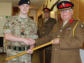 Presentations made to cadets from No 1 Hereward Company