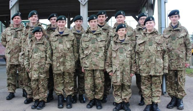 Cadets get new uniform | Cornwall ACF | Army Cadet Force