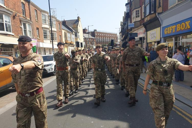Bridlington AFD Parade