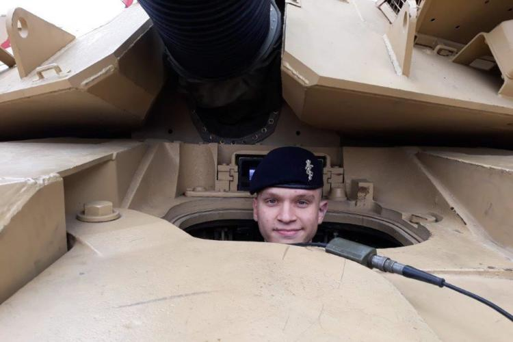 Cdt Sgt Ely Scunthorpe in a challenger