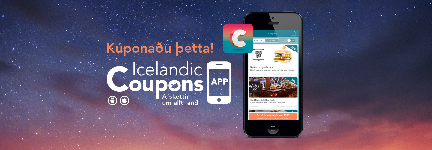 only coupons app in iceland