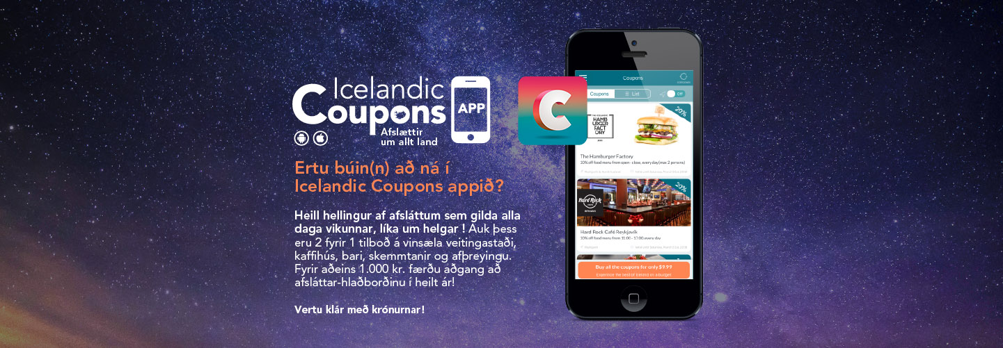 icelandic coupons app