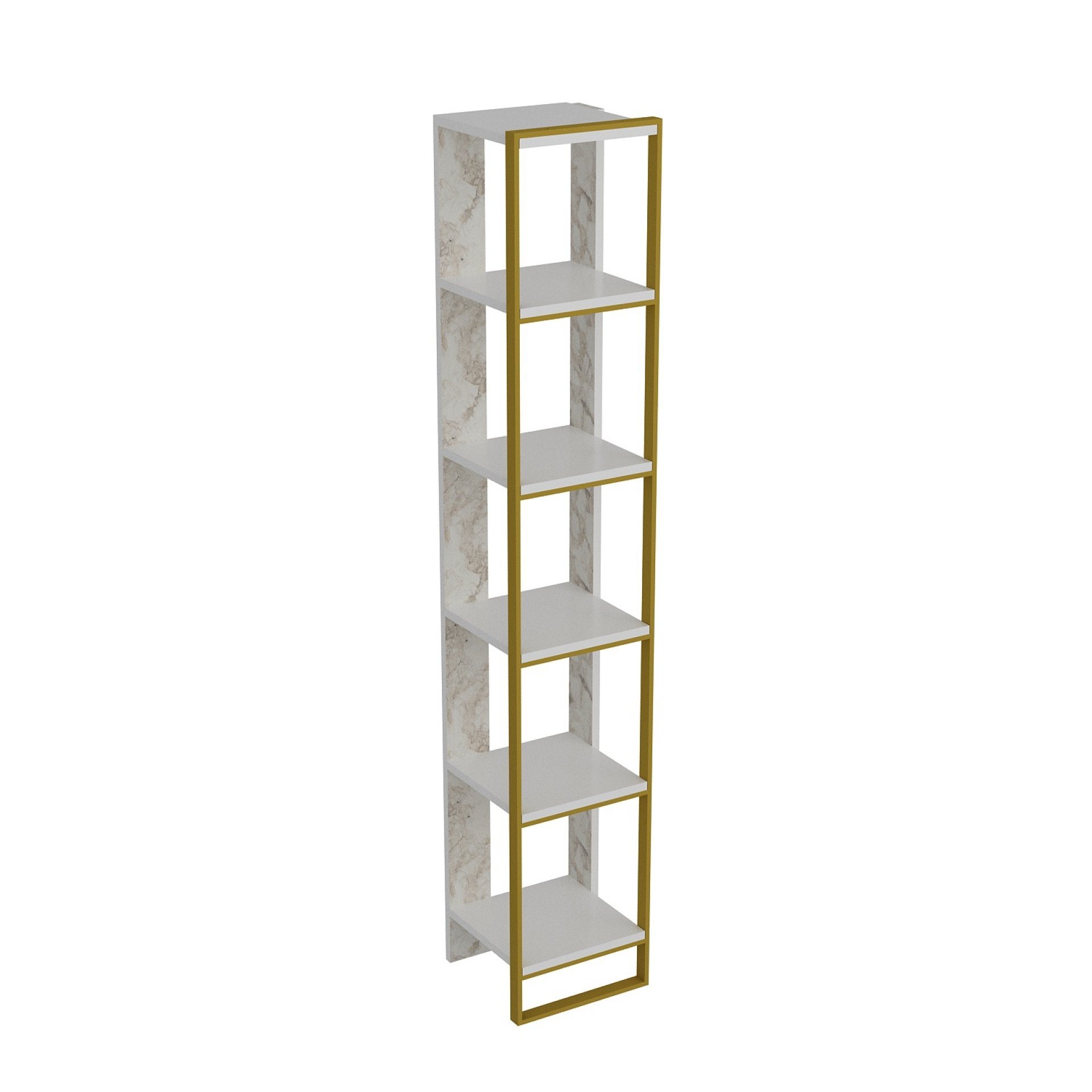 Bookcase Ephesus Gold Marble Effect Polka 178cm By Decorotika Get Comfy