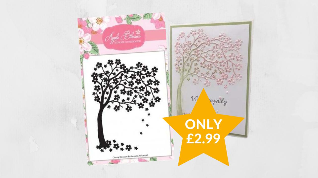Only £2.99 - Apple Blossom Cherry Blossom Embossing Folder