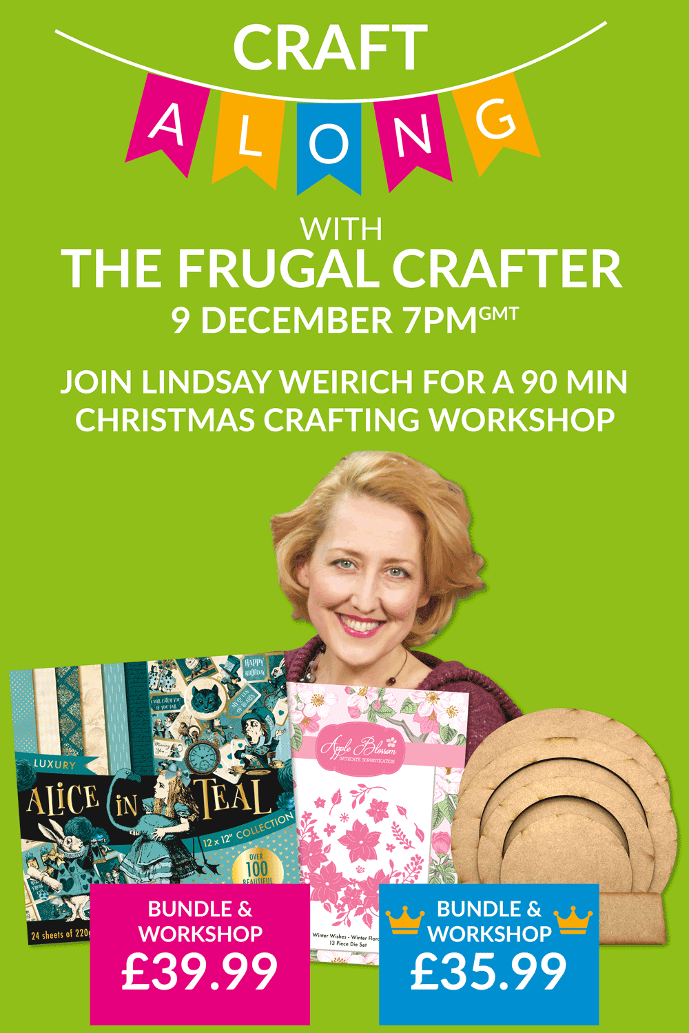 Christmas Craft-Along Workshop with The Frugal Crafter, Lindsay Weirich!