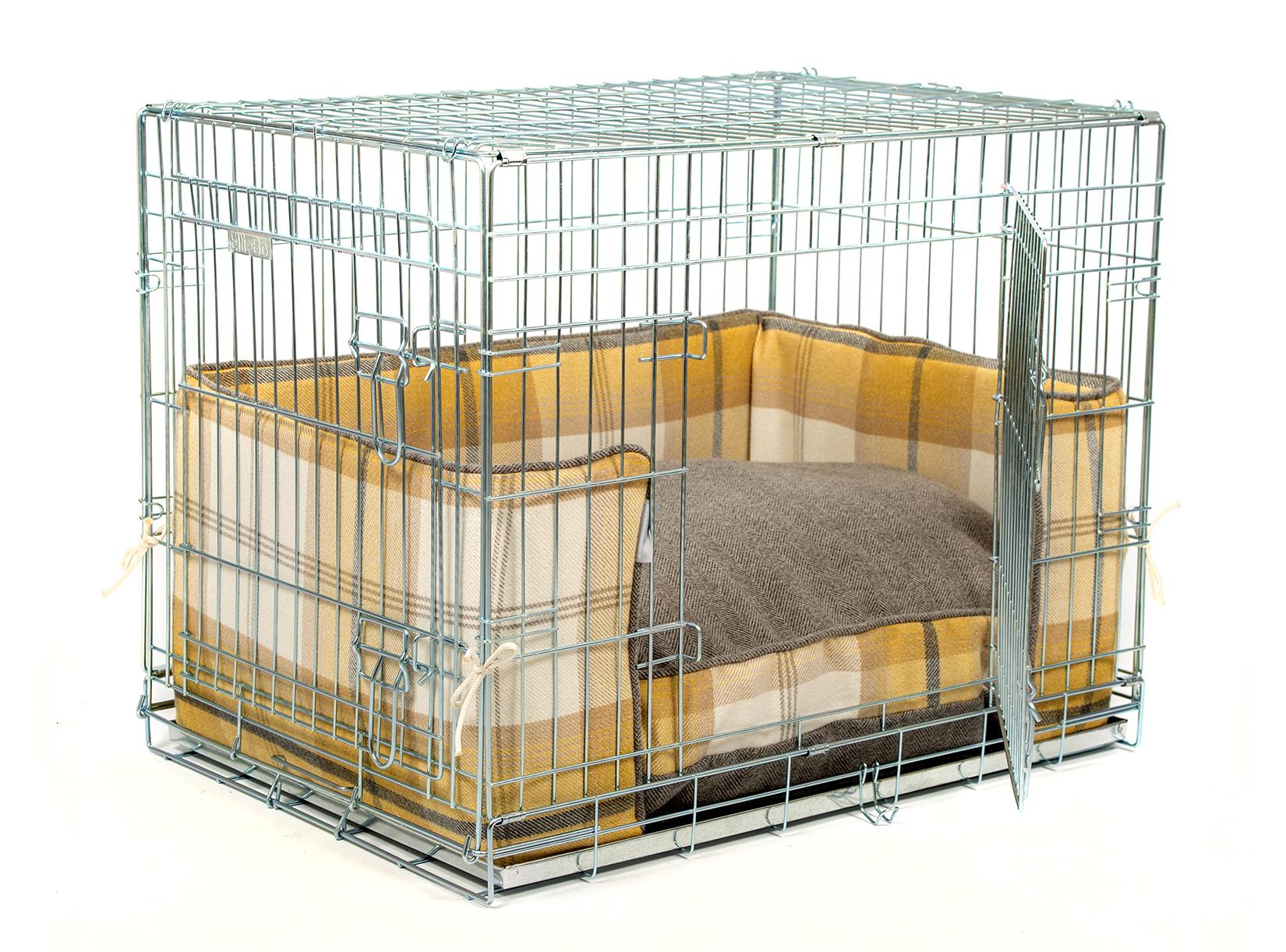 Ochre Ash Balmoral Tweed Crate bumper set