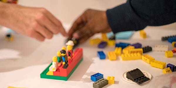Users co-design a behaviour change intervention using lego