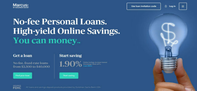 Website from Marcus by goldman Sachs