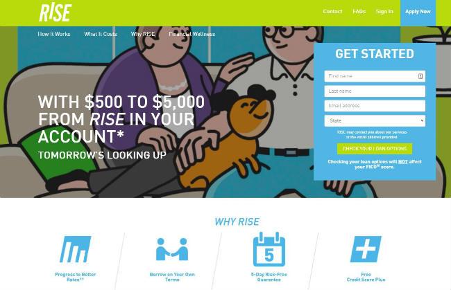 Rise Credit Website Lobby