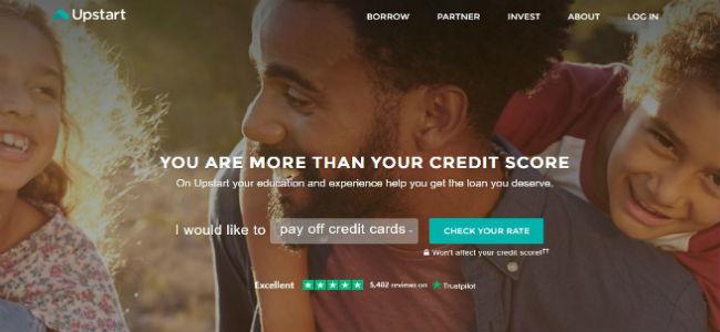 Upstart Website lobby