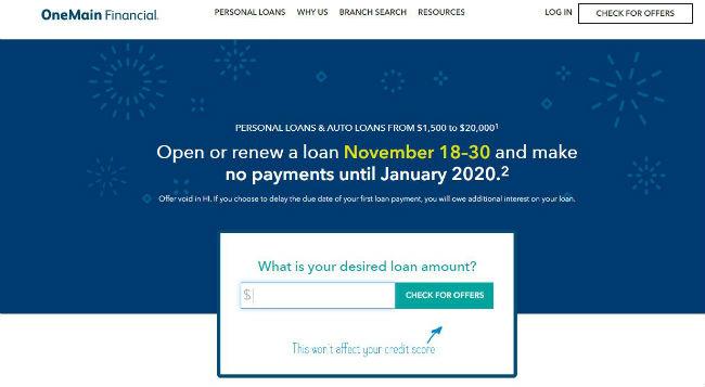OneMain Financial Website lobby
