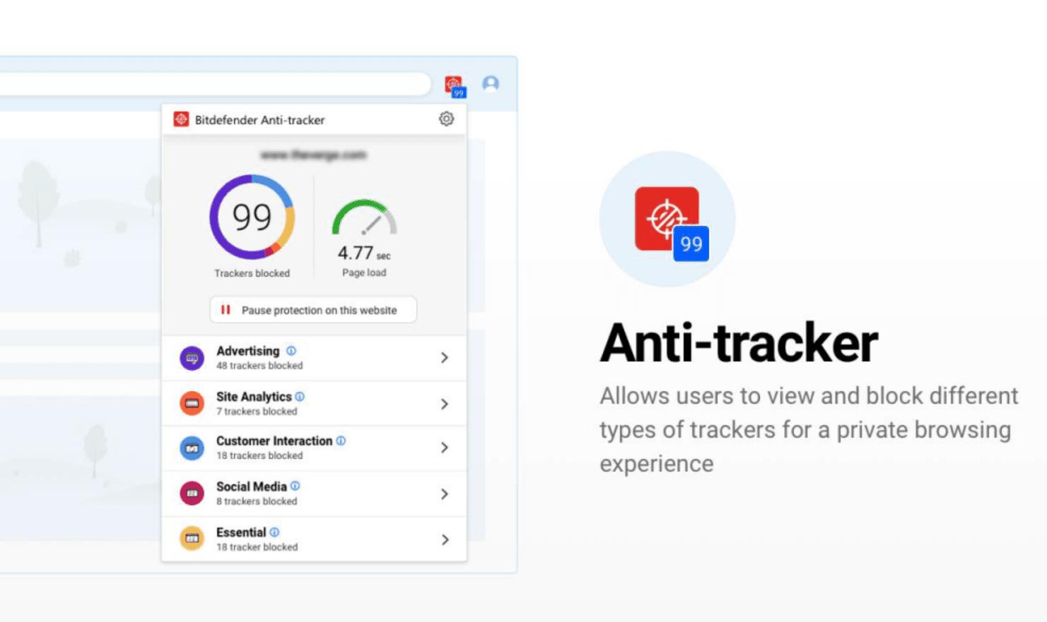 Bitdefender's Anti Tracker