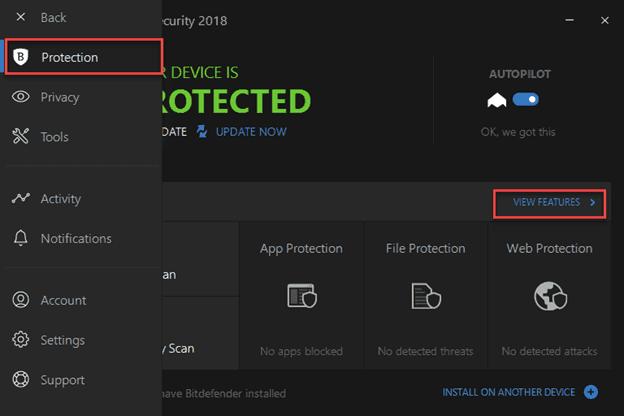 Bitdefender's Firewall
