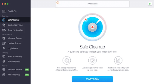 MacKeeper Cleaning Tools