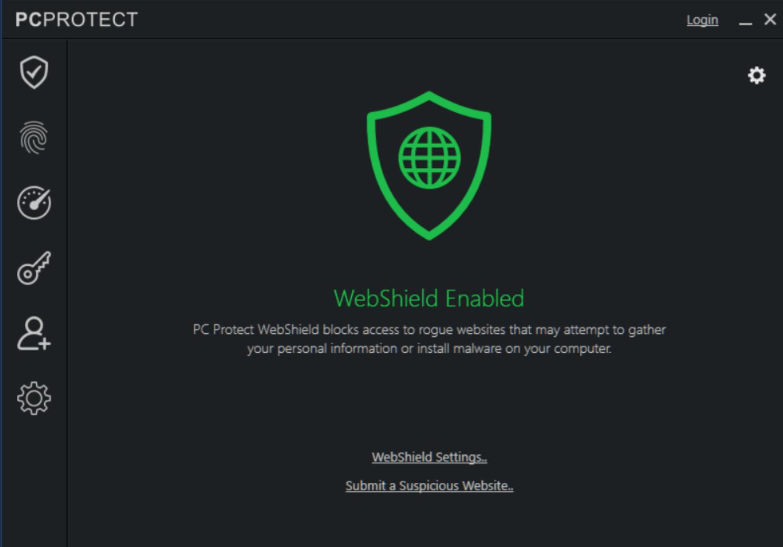 PC Protect web shield