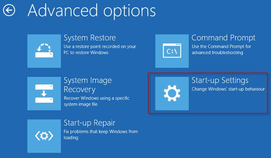 Advanced option - Windows