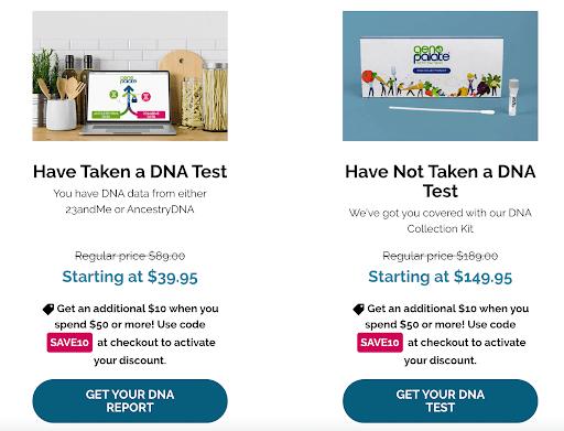 GenoPalate pricing/Kits cost