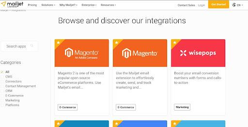 Mailjet Integrations
