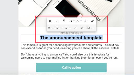 Adjust the text