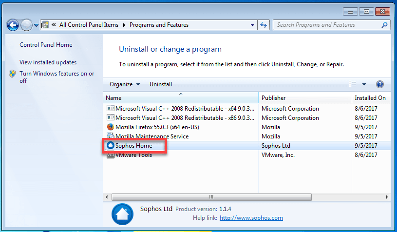 How To Uninstall Sophos