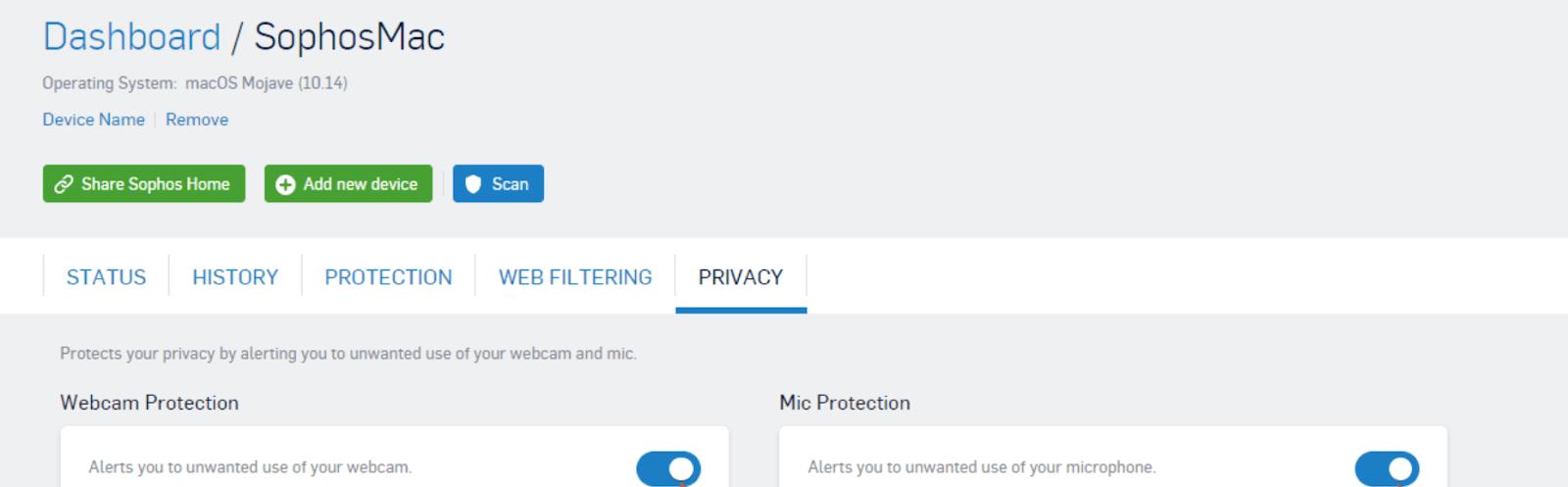 Sophos Webcam Spyware Protection