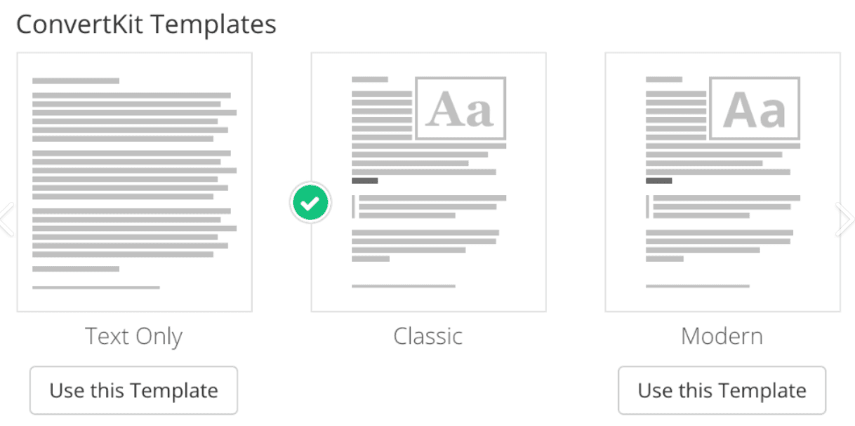 ConvertKit Email Design Options