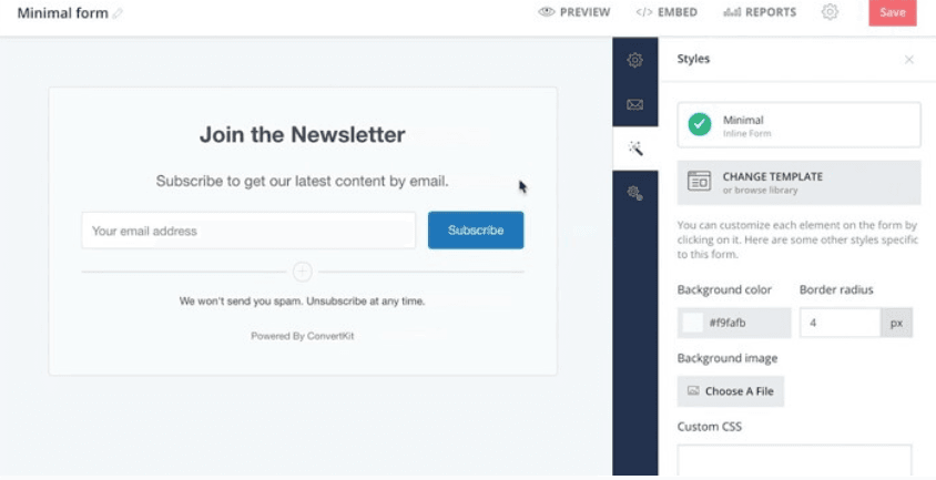 ConvertKit Sign-up Forms