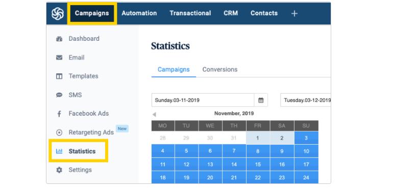 Sendinblue Campaign Tracking Features