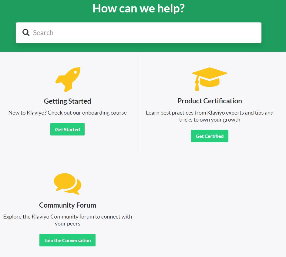 KlaviyoCustomer Support