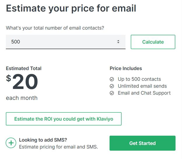 Klaviyo Pricing