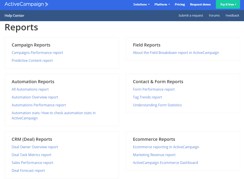 ActiveCampaign Reports
