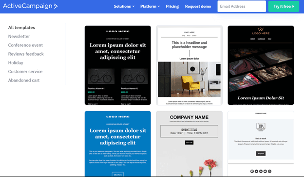 ActiveCampaign Email Design Options