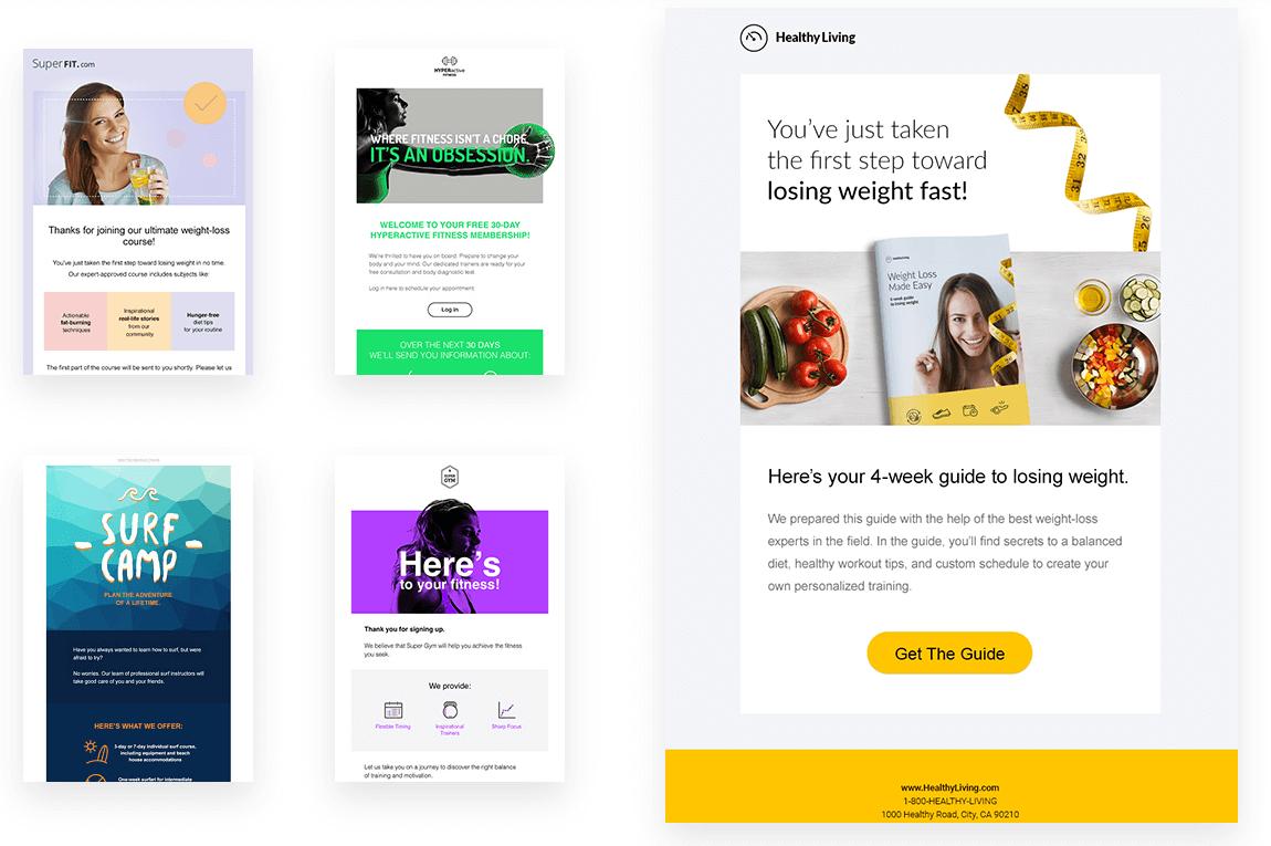 GetResponse Email Design Options