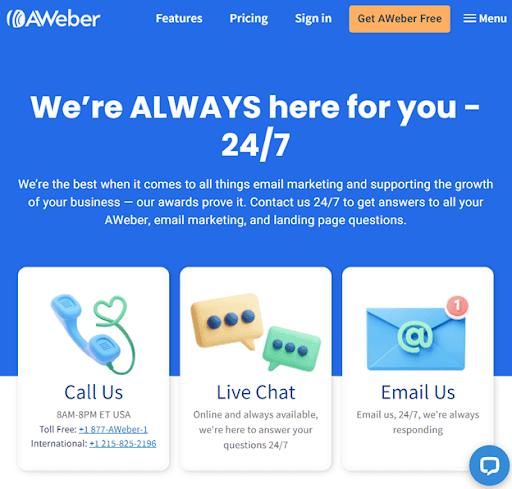 AWeber Customer Support