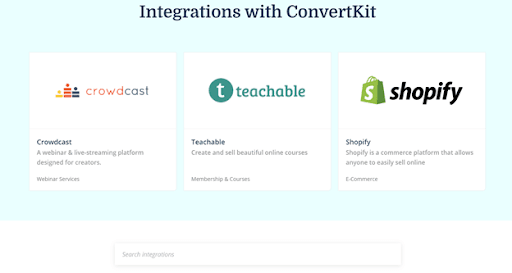 ConvertKit Integrations