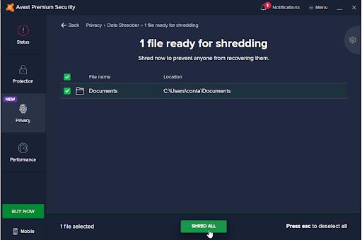 Avast File Shredder