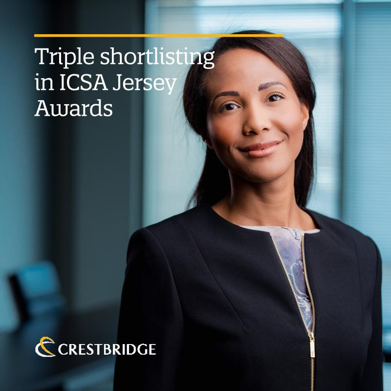 Crestbridge receives triple shortlisting in ICSA Jersey Awards