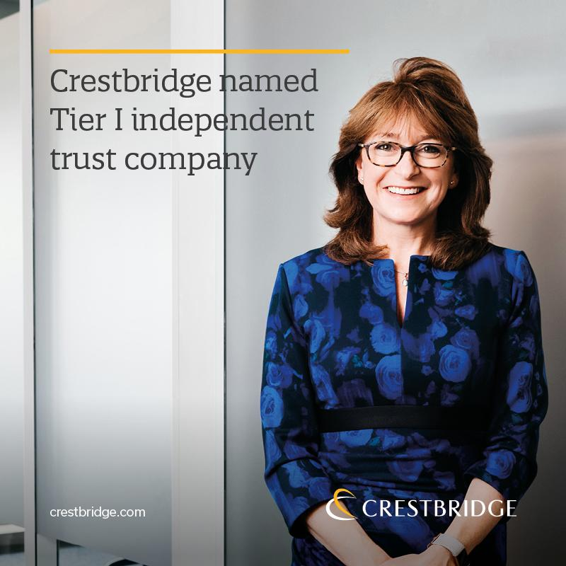 Crestbridge has been named as a Tier I independent trust company