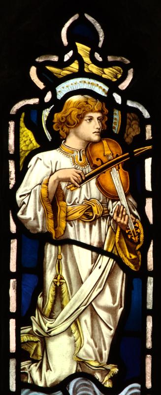 Brampton angel with viol.