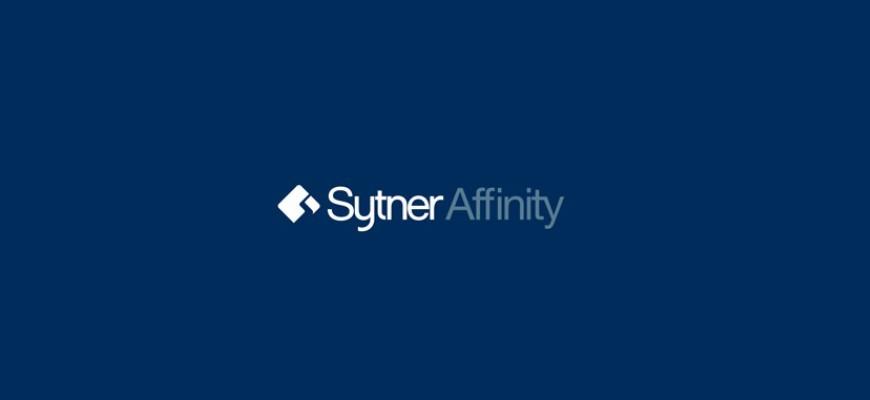 Styner Afinity logo on a blue background